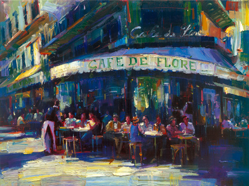 Michael Flohr's Limited Edition Giclees - Cafe de Flore